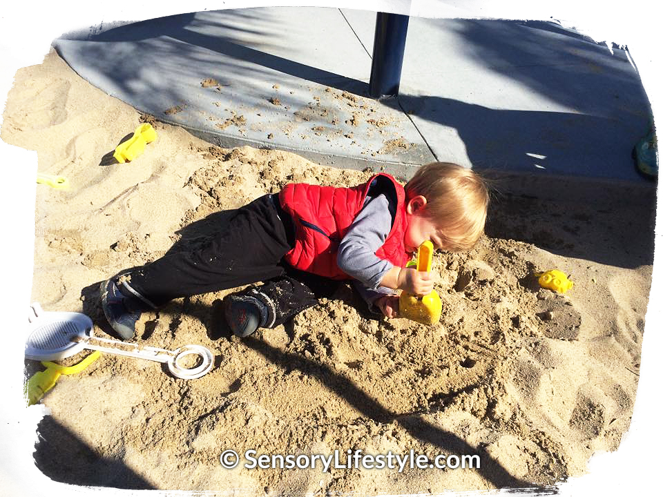 Sensory Lifestyle: Josh playing in the sand