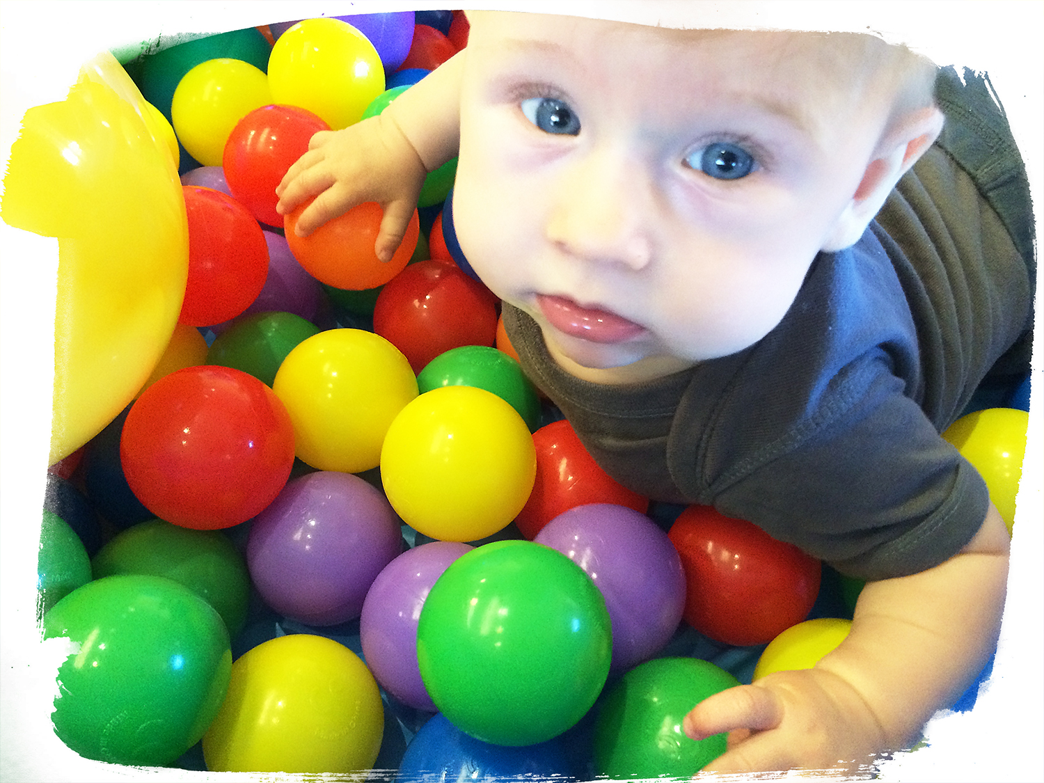 Josh playing with sensory balls