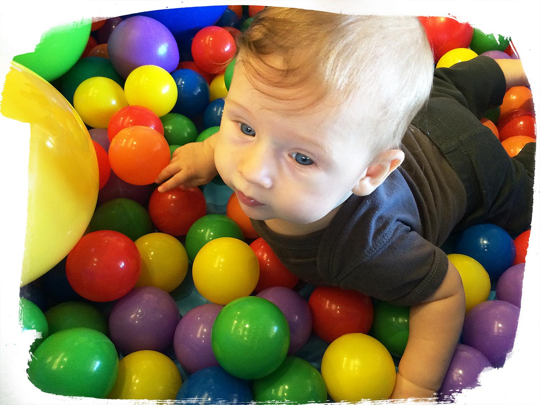 Josh playing with sensory balls
