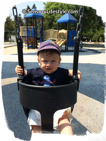 Sensory Processing: Josh on a swing