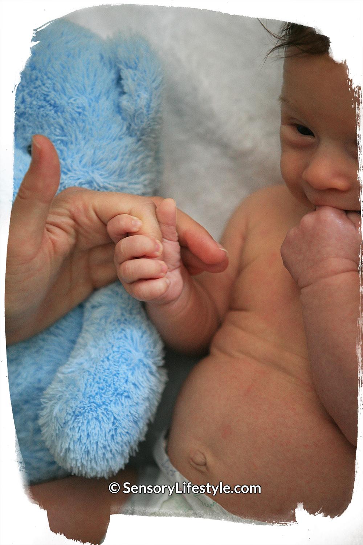 Newborn Palmar reflex