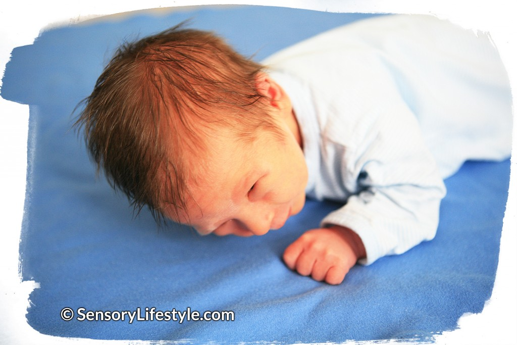 Tummy time activity for newborn