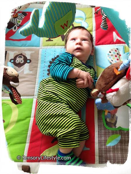 2 month baby activities: play gym