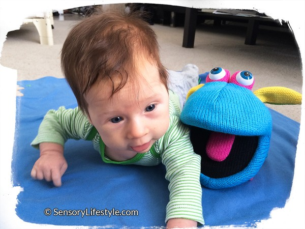 2 month baby activities: tummy time