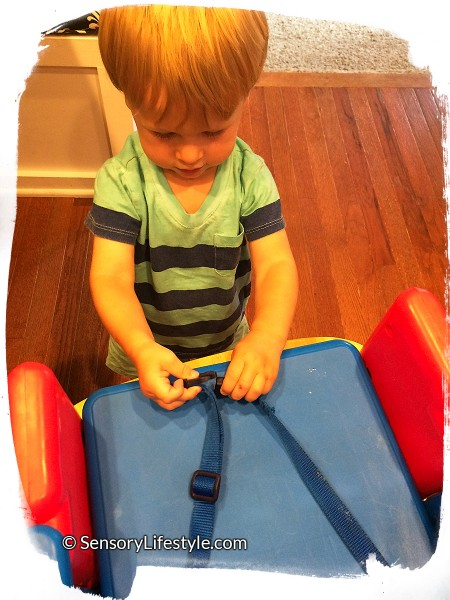 17 month old toddler activities: Buckles