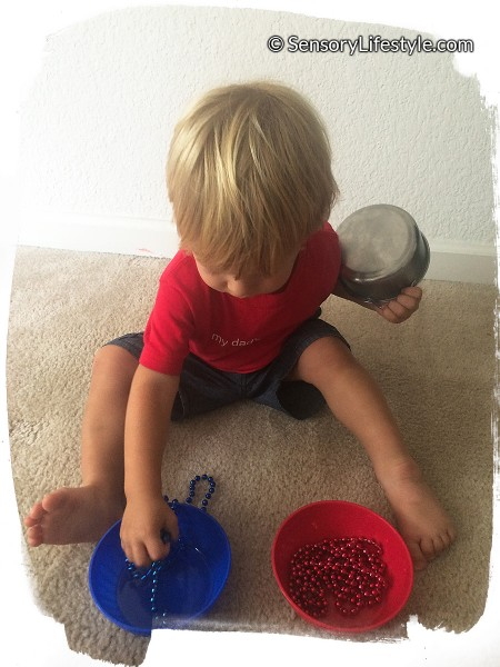 17 month old toddler activities: Sorting colors