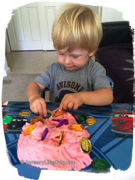 18 month old toddler activities: Josh and play dough