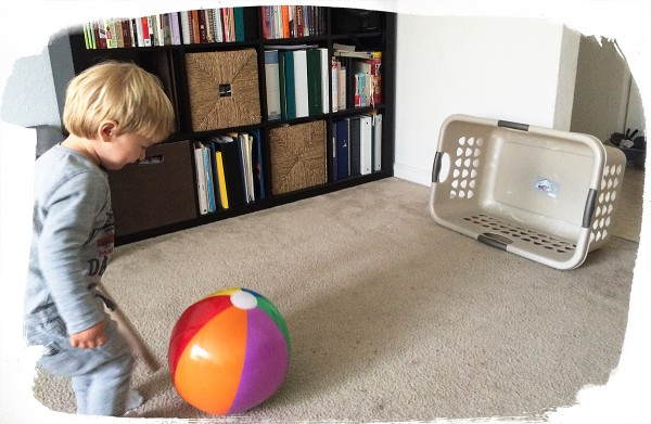 19 month old toddler activities: Ball round up
