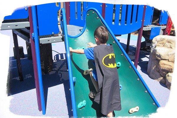 Playground benefits: Batman