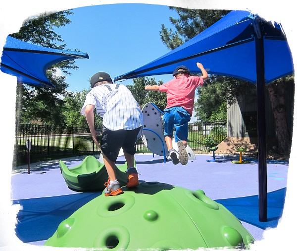 Developmental benefits of playgrounds: Jumping from a dome