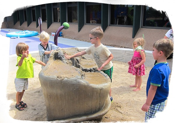 Playground benefits: Playing in a sandpit