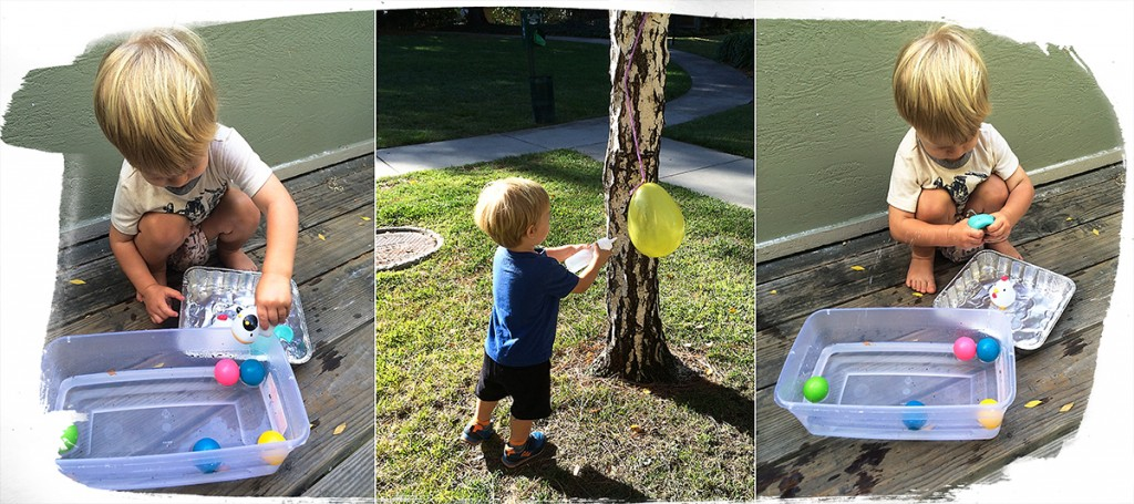 19 month old toddler activities: Splish splash