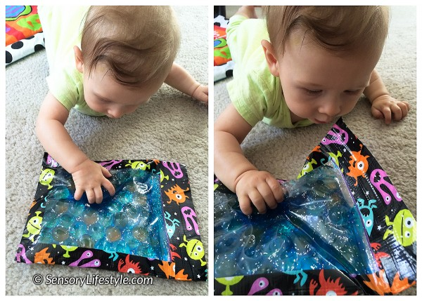 5 month old baby activities: Sensory bag