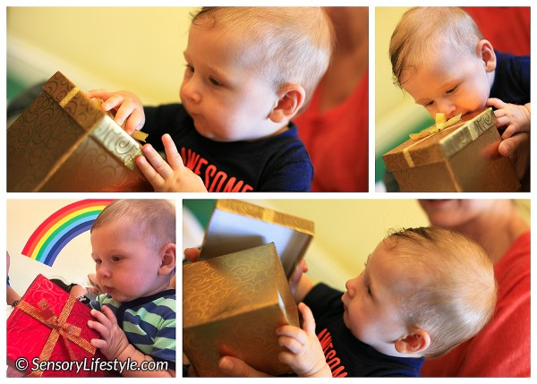 5 month old baby activities: Treasure box surprise