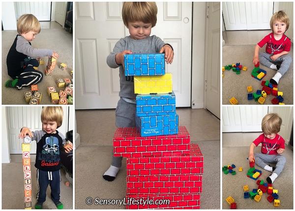 21 month toddler activities: Building blocks