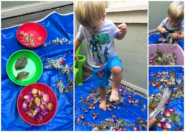 20 month toddler activities: Flower smashing