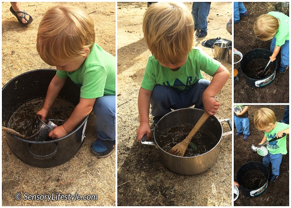 20 month toddler activities: Nature stew