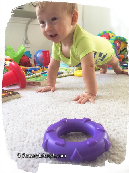 7 month baby activity: Plank