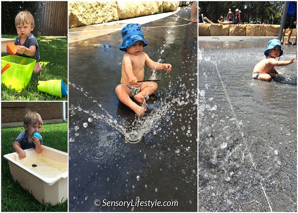 12 month old baby activities: Water Play