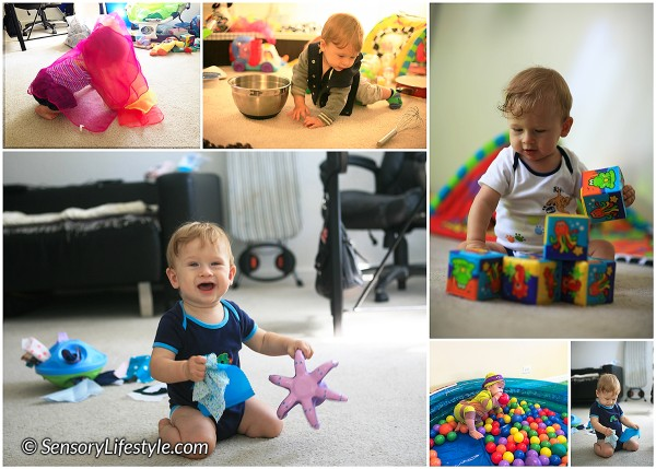8 month baby activities: hand exploration