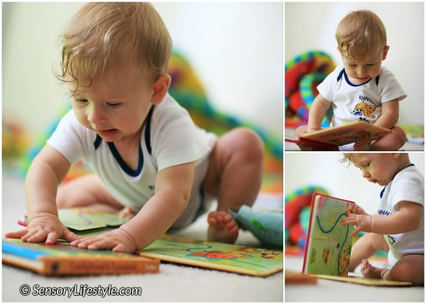 8 month baby activities: Reading at 8 months