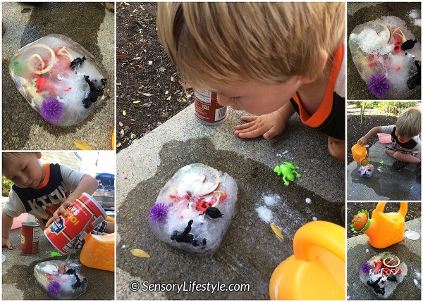 23 month toddler activities: ice rescue
