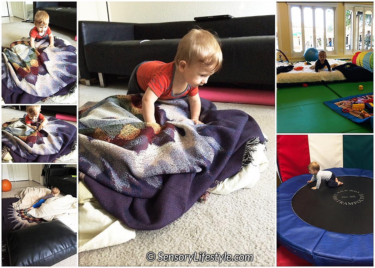 Indoor activities for babies: Crawling uphills