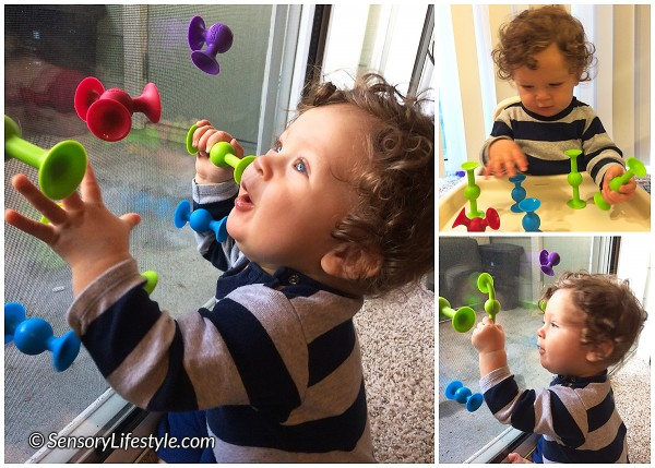 9 month old baby activities: Squigz baby play