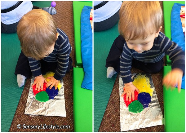 9 month old baby activities: Ziplock painting