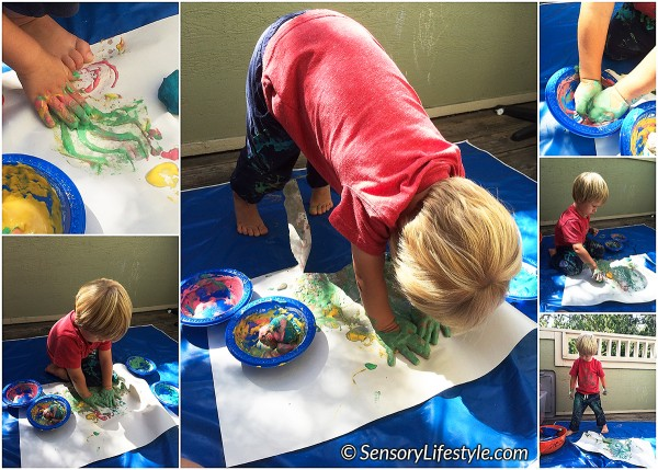 24 month toddler activities: Textured Paint