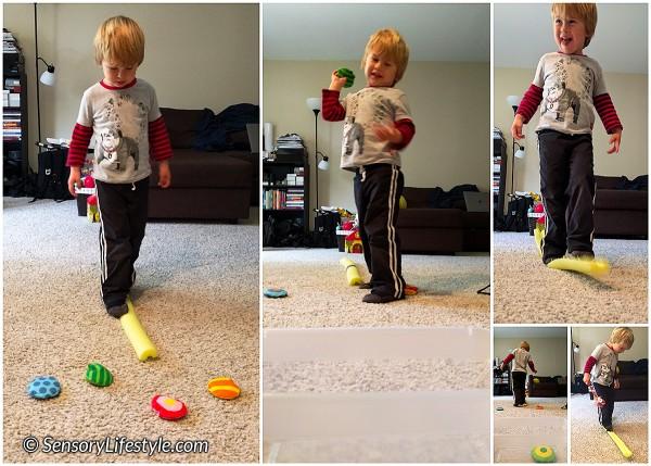 24 month toddler activities: Balance beam