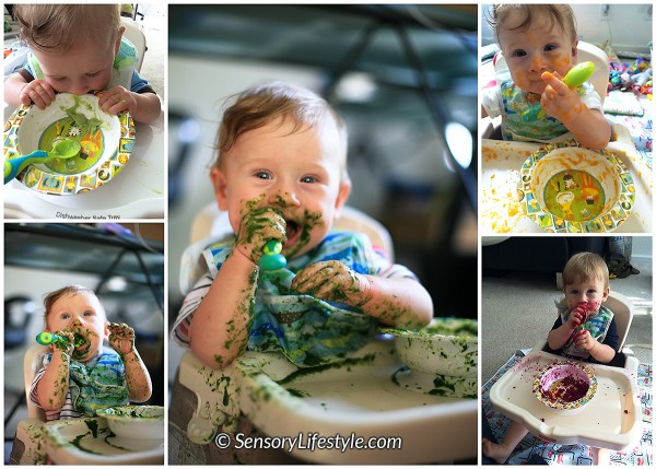10 month baby activities: Food play at 10 months