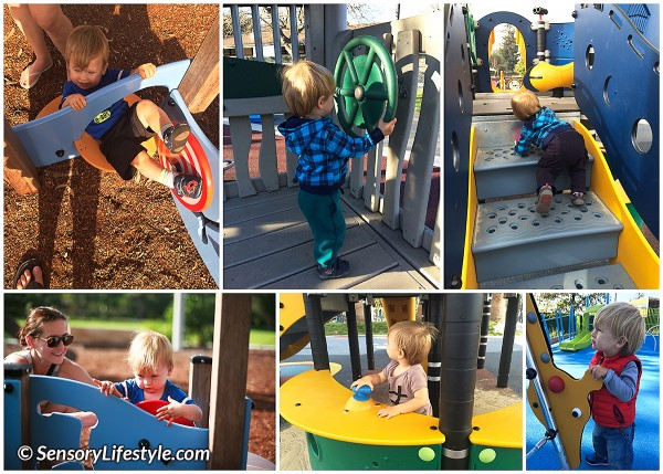 11 month baby activities: Playground exploration
