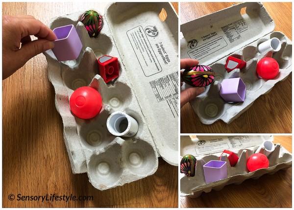 10 month baby activities: egg carton