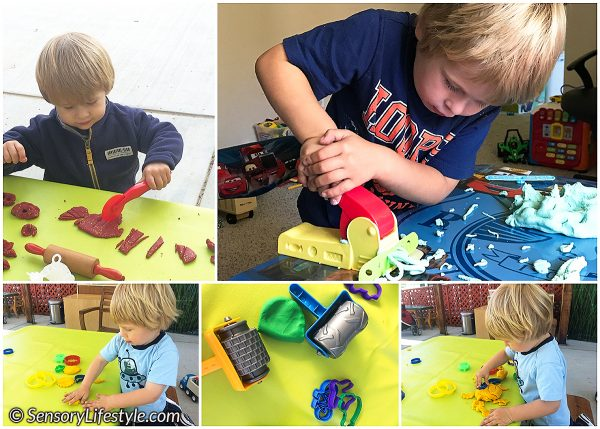 Fine motor development: Play dough strengthening