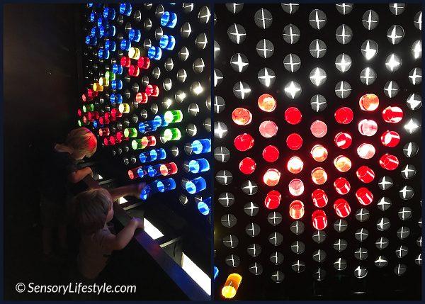 Color Factory: Lite Brite room