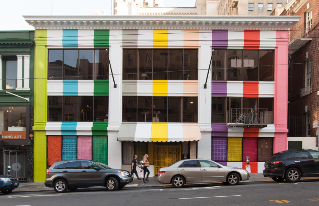 Color Factory building in full color in San Francisco