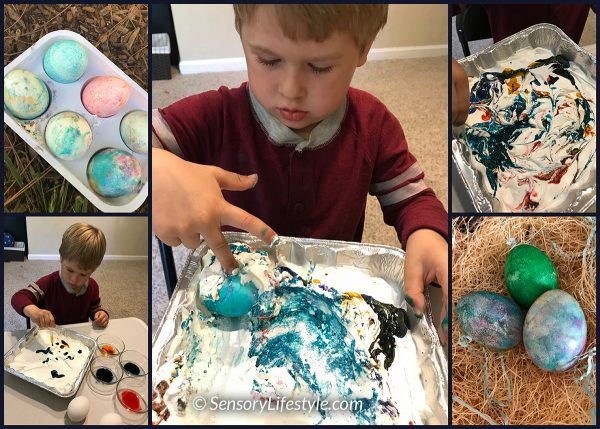 Egg coloring: Whip cream eggs