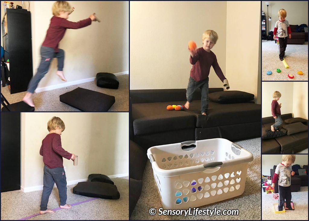 Indoor movement activities for kids: Indoor obstacle course