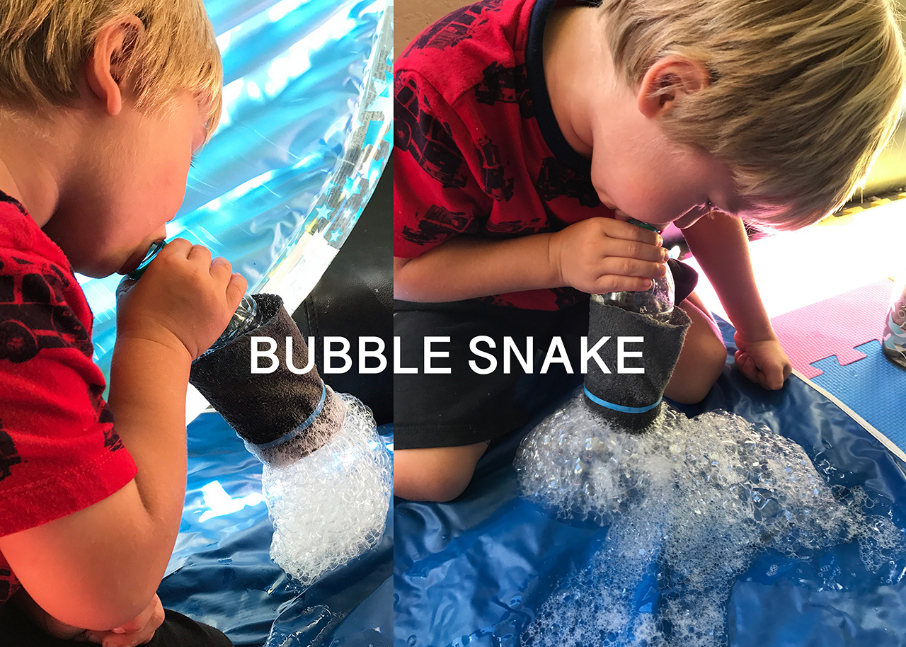 Preschooler activity: Bubble Snake