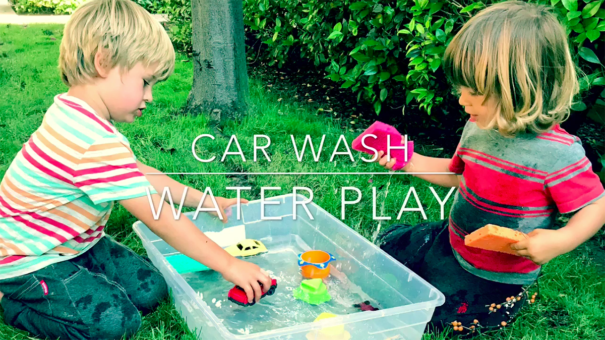 Toddler Videos : Car Wash Water Play
