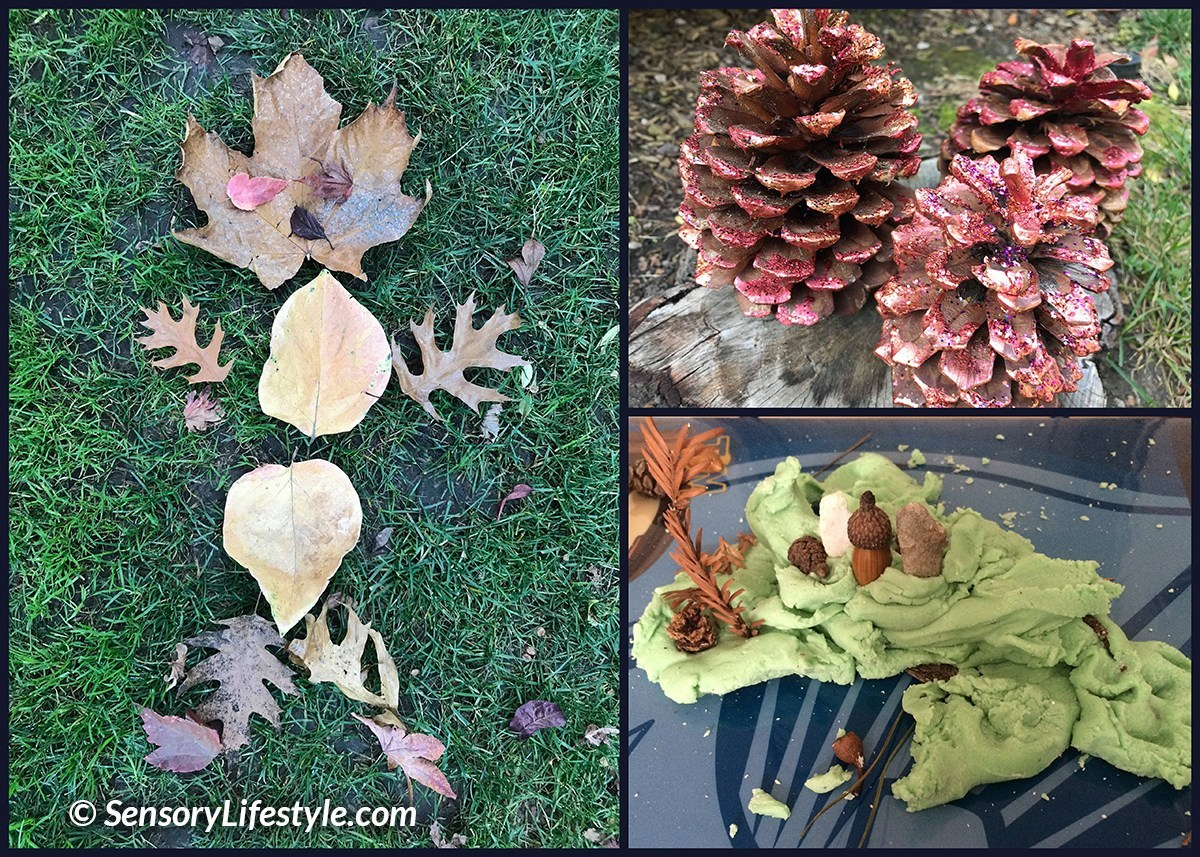 Autumn learning for toddler: creating with nature