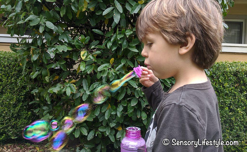 Indoor movement activities for kids: Bubbles
