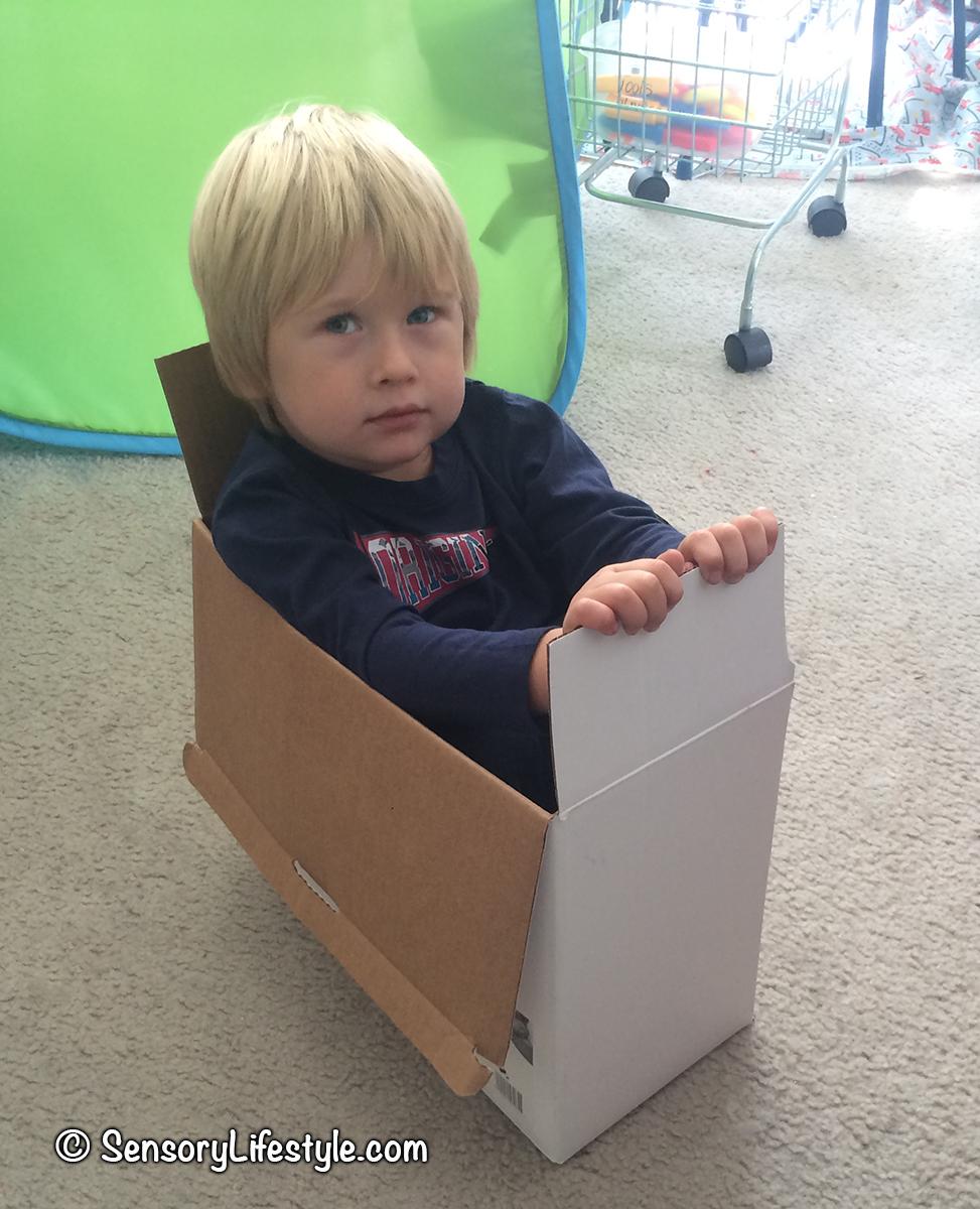 Indoor movement activities for kids: box games