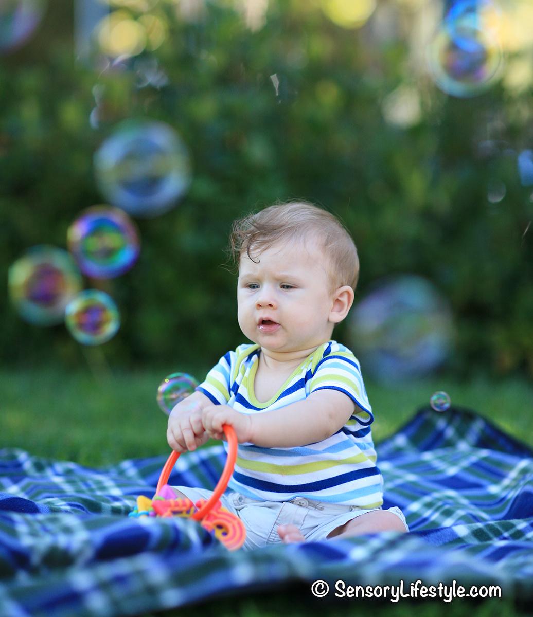 Tactile fun: Developmental benefits of bubbles
