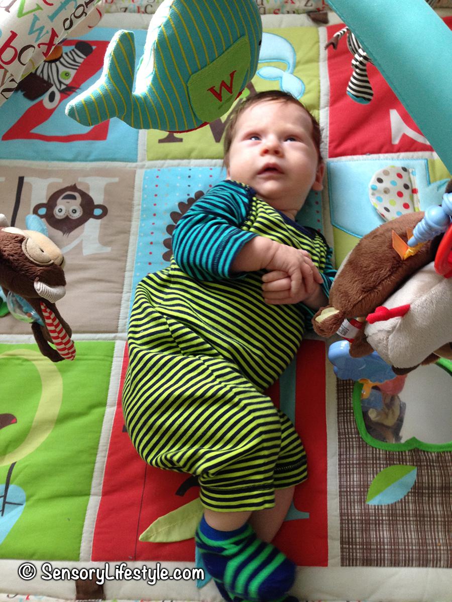 Indoor activities for babies- play mat